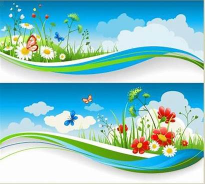 Nature Vector Vectors Summer Peaceful Spring Banners
