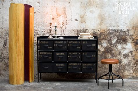 commode style industriel commode datelier 12 tiroirs 70902 jpg