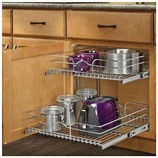 Pull Out Sliding Metal Kitchen Pot Cabinet Storage