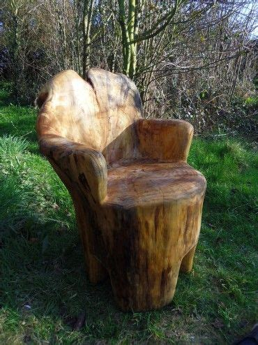 chainsaw carved seat woodworking carving rustic