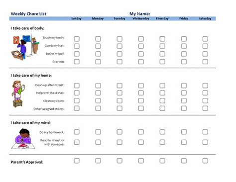 au pair daily schedule template chore list calendar template here is download link of