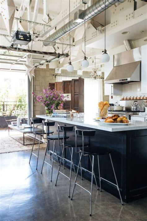 cuisines ouvertes sur salon photos cuisine industrielle 43 inspirations pour un style