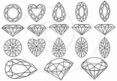 Gem Gemstone Gemstones Stones Jewels Tattoo Simple