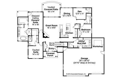 house floor plans ranch ranch house plans creek 30 878 associated designs