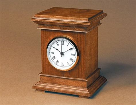 build  desktop clock wooden clock wood clocks