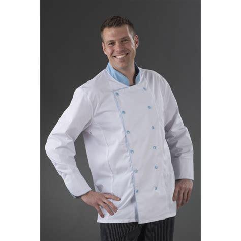 veste de cuisine homme pas cher veste de cuisine karl boutonnage ciel my tablier