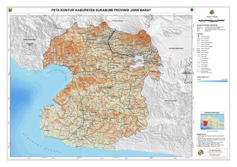 kontur kabupaten sukabumi peta tematik indonesia
