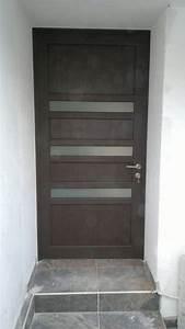 Puerta Principal De Aluminio Terminado Madera $ 5,800 00 en Mercado Libre
