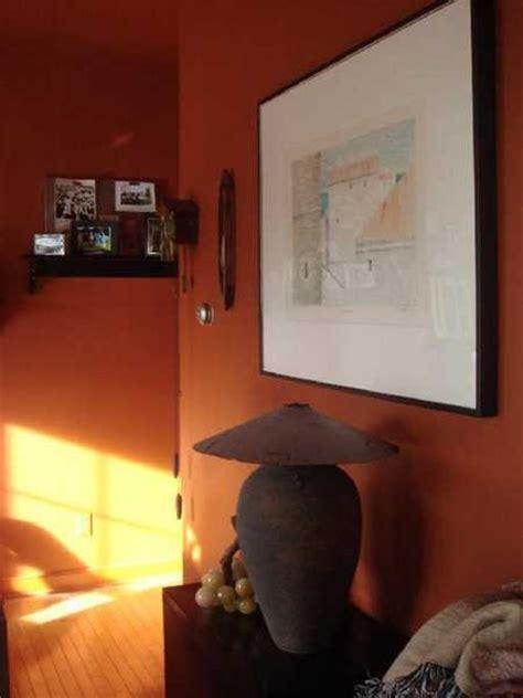 terracotta orange colors  matching interior design