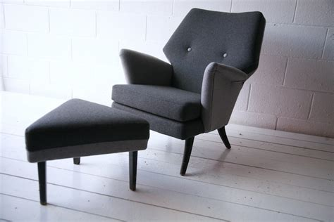Vintage 1950s Armchair And Stool By Howard Keith Uk