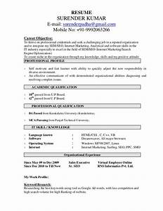 seo resume sample surender kumar resume With resume optimization service