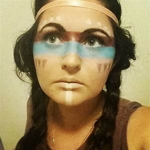 American Indian makeup, that tan though.   SFX makeup ...