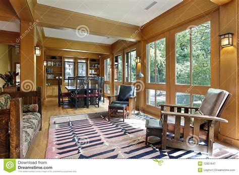 dining room  wood trim royalty  stock photography