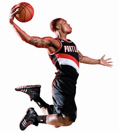 Basketball Player Dunking Dunk Nba Lillard Damian