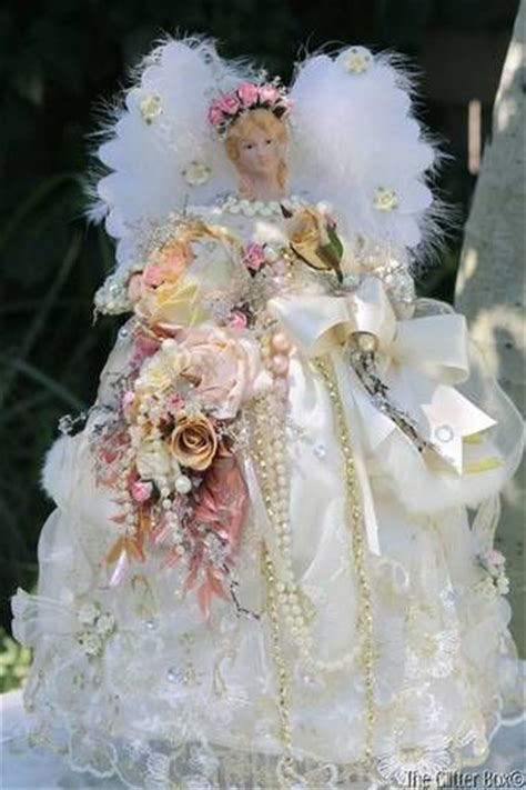 shabby chic christmas tree toppers 1000 images about angel tree toppers on pinterest angel christmas tree topper tree toppers