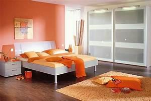 Chambre Orange Et Blanche Photo 720 Ambiance Tonique