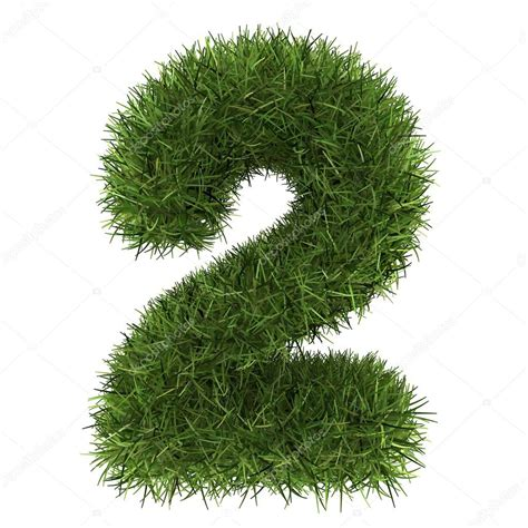 and numbers letter a made of grass stock numbers made of grass turf isolated on white background