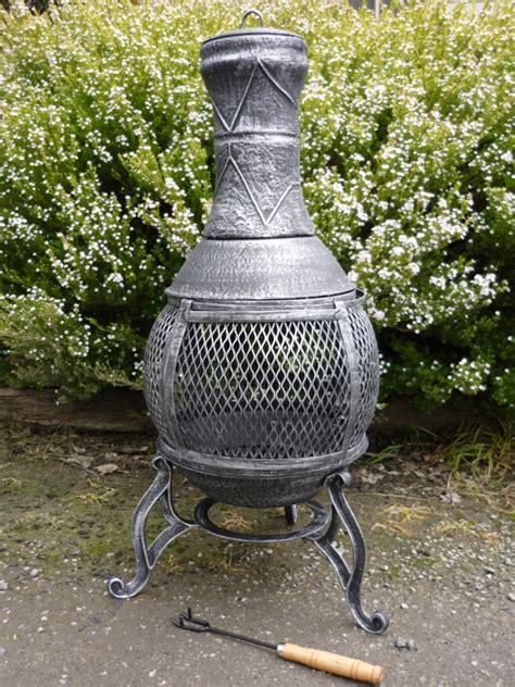 cast iron chiminea pot belly wood heater garden patio
