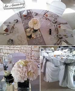 Centre De Table Mariage : d coration de mariage gris perl anthracite argent blanc ~ Melissatoandfro.com Idées de Décoration