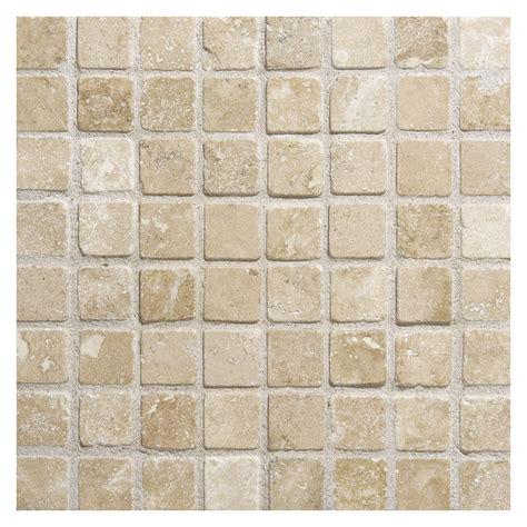 travertine tile mosaic travertine mosaic tile 5 8 quot square durango tumbled