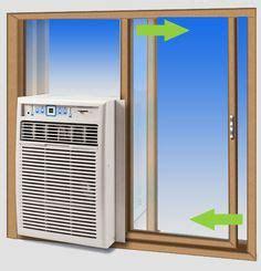 side  window ac unit install installing air