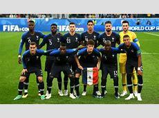 Alineación oficial de Francia contra Croacia en la final