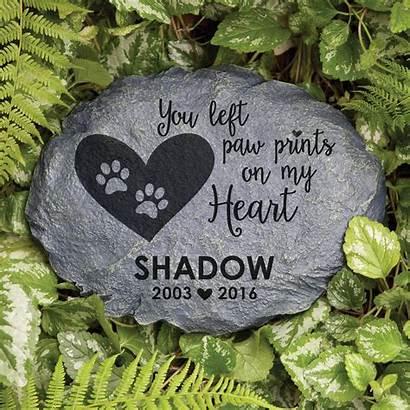 Memorial Pet Garden Stones Stone Personalized Paw