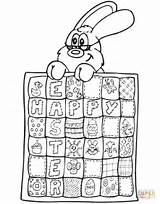 Quilt Coloring Easter Pages Printable Games Silhouettes Dot Dots Paper sketch template