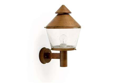 mid century wall light large mid century outdoor wall light in copper by