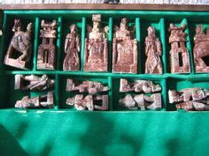 Vintage Soapstone Korean Chess Set Hinged Board