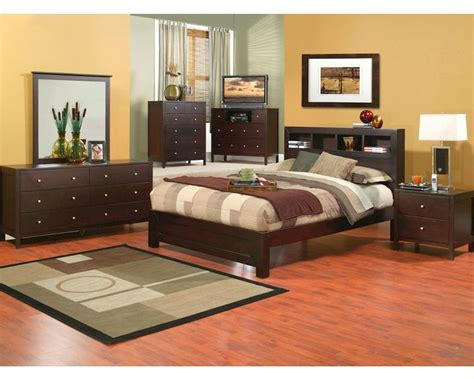 Bedroom Set With Bookcase Headboard by Alpine Bedroom Set W Bookcase Headboard Solana Alsksetbc