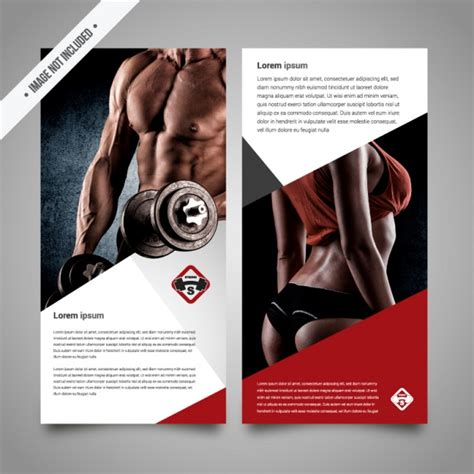 fitness brochure template vector