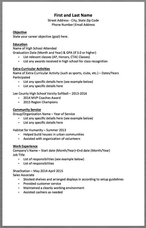 Resume Set Up by Basic Resume Template And Last Name Address
