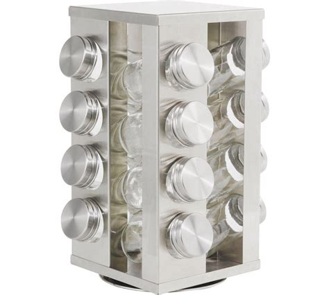 Spice Rack Square Jars by Spice Racks Stainless Steel Rotating Spice Display Rack