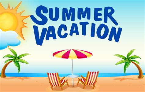 Summer vacation on the beach - Download Free Vectors ...