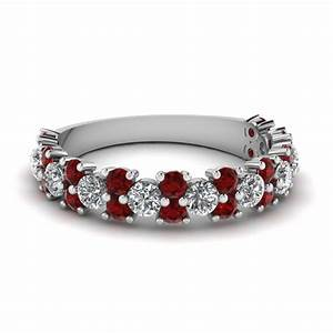 Save Big On Ruby Wedding Bands For Women Fascinating Diamonds