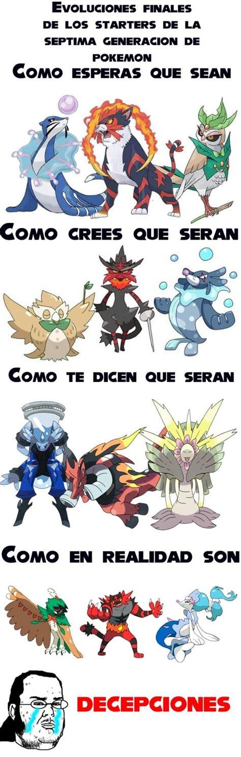 Memes De Pokemon - memes graciosos para compartir en facebook starters de la nueva generaci 243 n de pok 233 mon i http