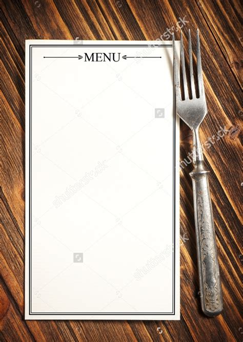 blank menus templates  ai ms word pages
