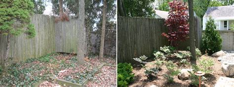 backyard landscaping before and after outdoor furniture