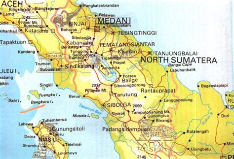 north sumatera map pt vip  travel bali hotels