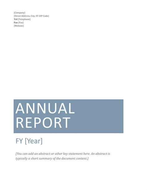 financial report template word annual financial report template microsoft word templates