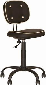 Chaise De Bureau Vintage : fora fauteuil chaise de bureau vintage capitonn sans accoudoirs noir beige chaise expert ~ Teatrodelosmanantiales.com Idées de Décoration
