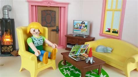 Wohnzimmer Mit Kaminofen 5308 Für Playmobil Puppenhaus
