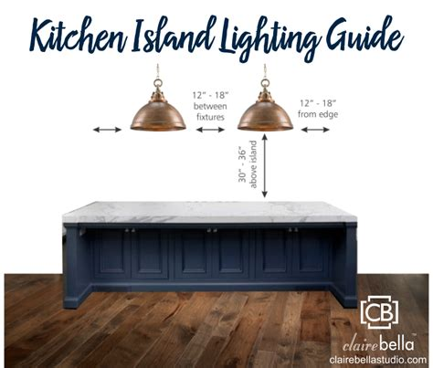 kitchen island lighting guide clairebella studio