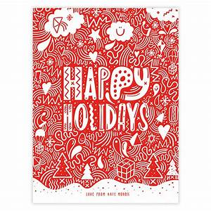 11 Happy Holiday Card Templates Images - Happy Holiday ...
