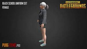 BLACK SCHOOL UNIFORM SET FEMALE PUBG Showcase YouTube