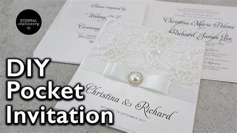 how to make a lace pocket wedding invitation diy