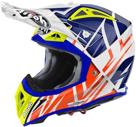 airoh motocross helmet airoh aviator 2 2 styling motocross helmet white blue