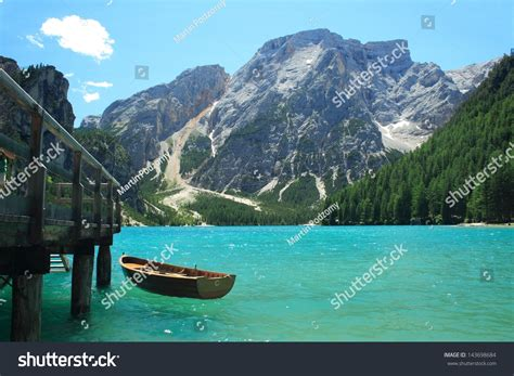 Braies Lake Dolomiti Italy Stock Photo 143698684