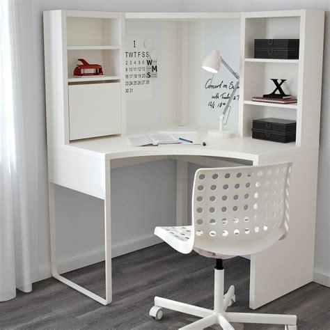 bureau de cr饌tion petit meuble d angle blanc maison design modanes com